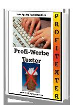Cover: »Profi Werbe Texter«